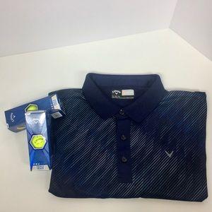 Callaway Opt-Fit golf shirt in Blue